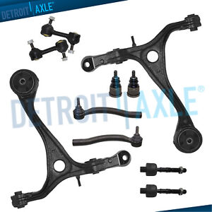 Acura Tsx Honda Accord 2 4l 10pc Control Arm Ball Joint Sway Bar Tie Rod Kit