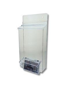 Lot Of 12 Clear 5 5 X 9 Bi Fold Brochure Holder Attached Card Holder Display