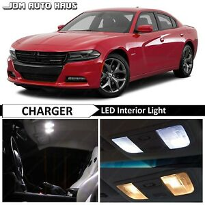 2015 2018 Dodge Charger 15x White Interior Led Lights Bulbs Replacement Package