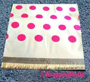 100 14 5x19 Designer Series hot Pink Polka Dot Poly Mailers Usps Approved