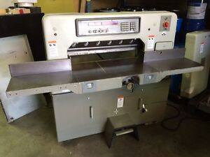 Polar 76 Em Paper Cutter Sn 5361025 With Air Blower can See Running In Shop