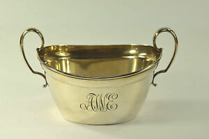 Antique Reed Barton Sterling Silver Two Handled Sugar Bowl N7 Monogrammed