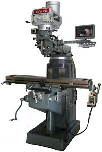New Clark 2vs Variable Speed 9 X 49 Milling Machine W 2 Axis Dro