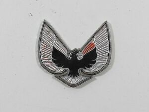 1975 76 Pontiac Firebird Emblem Trim Badge Decal Metal Nameplate Trunk Vintage