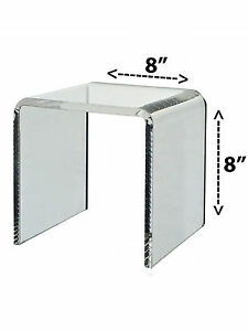 Lot Of 6 Clear Acrylic Cube Counter Top Riser Makeup Jewelry Display Stand 8x8