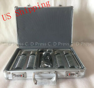 Us 104 Pcs Metal Rim Optical Trial Lens Set Aluminium Case 1 Pc Trial Frame