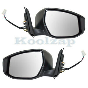For 13 18 Altima Rear View Mirror Power Non Heated W Turn Signal Light Pair Set