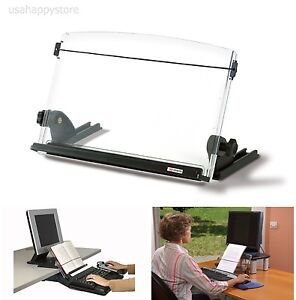 3m Desktop Document Copy Holder Stand 150 Sheet Adjustable Office Workstation