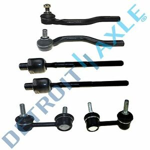 6pc Front Outer Inner Tie Rod Sway Bar Honda Civic 2006 2007 2008 2011 Non si