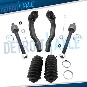 Front Inner Outer Tie Rod Ends Boots For 1992 1997 Honda Civic Del Sol