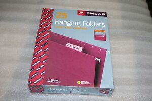 Smead Hanging File Folders 1 5 Cut Tab Letter Size Case Of 250 Maroon