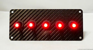 Authentic Carbon Fiber Panel W Led Toggle Switches Red