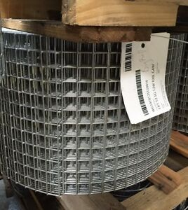 1x1 12 5g 12 x100 Galvanized Welded Wire Mesh Rolls gaw