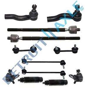12pc Inner Outer Tierods Ball Joints Sway Bars For 2001 2004 2005 Toyota Rav4