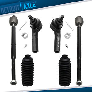 All 4 New Inner Outer Tie Rods Boots Fits Jeep Grand Cherokee Commander