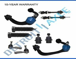 Ford F150 Mark Lt 4wd New 10pc Complete Front Upper Control Arm