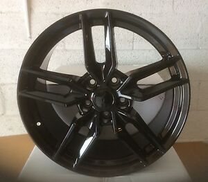 Stingray Corvette C7r 19 20 For C7 2014 19 Gloss Black Wheels Rims