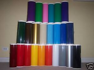 24 Sign Vinyl 9 Rolls 10 ea 26 Colors 14 X 150 Ft Roll Application Tape