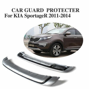 Chrome Protecter Plate Front Rear Bumper Spoiler Flap Fit For Kia Sportage 11 14