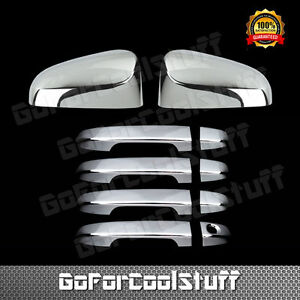 For Toyota 2012 2015 Camry Chrome Mirror Door Handle Cover W o Pskh Combo Set