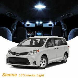 2011 2018 11 X Led Full Interior Lights Package For Toyota Sienna Le Se Xle
