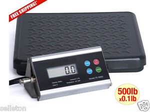 New 500 Lbs X 0 1 Lb Shipping Scale Floor Kitchen Digital Balance Bench Postal