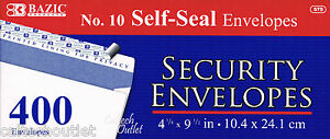 400 Peel Self seal White Letter Mailing Long Security Envelopes 4 1 8 X 9 1 2