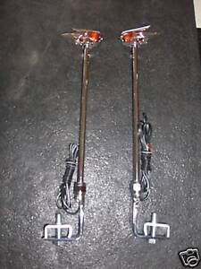Vintage Style Fender Guide In Amber With Led Light All Cars Or Truck 1 Pair