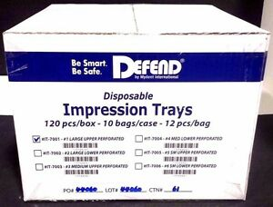 Defend Disposable Impression Tray 1 Large Upper 120pcs 10bags 1box it 7001