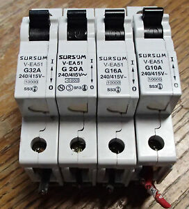 Altech Abl Sursum Breakers G10a G16a G20a G32a 277v Ac Used T o Lot Of 4