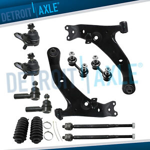For Toyota Corolla Prizm Front Lower Control Arm Ball Joint Tierod Sway Bar 12pc