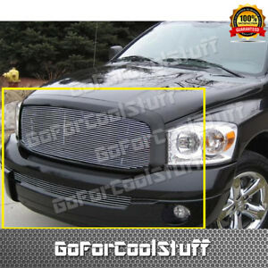 For 2006 2007 2008 Dodge Ram 1500 2500 3500 Upper Bumper Billet Grille Combo