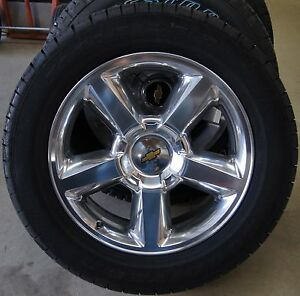New Chevy Silverado Tahoe Suburban Avalanche Ltz Polished 20 Wheels Rims Tires