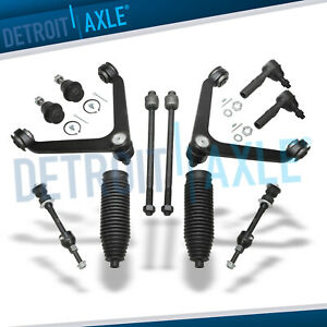 12pc Front Upper Control Arm Tie Rod Kit 2002 2003 2004 2005 Dodge Ram 1500 2wd