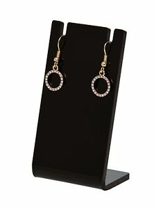 Lot Of 24 Earring Necklace Jewelry Black Acrylic Display Stand Holder Earing