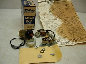 Nos 1960s Mallory 12v Duel Point Distributor Points Coil 25590 Chevy Buick V8