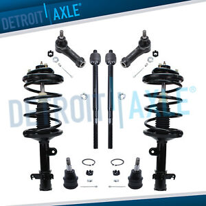 1999 2001 Honda Odyssey Front Lower Ball Joint Strut Tierod Kit 8pc