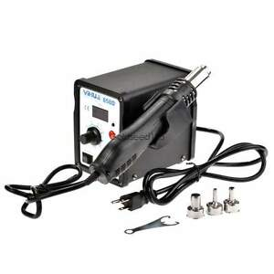 858d Hot Air Heat Smd Soldering Led Station Iron Solder Welding 110v ac Stand Us