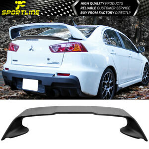 Fits 08 15 Mitsubishi Lancer Only X Original Evo 10 Rear Trunk Spoiler Wing Abs