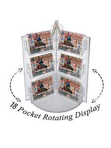Lot Of 6 Clear 18 Pocket Acrylic Spinning Business Gift Card Holder Rack Display