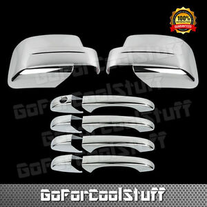 For Jeep Patriot 08 12 Chrome Mirror Cover Door Handle Cover W o Pskh