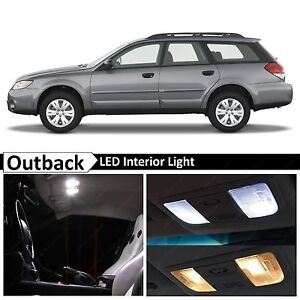 9x White Led Lights Interior Package Kit For 2000 2008 Subaru Outback