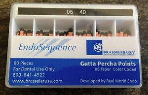 1 New Pack Of Brasseler Endosequence Gutta Percha Points Size 40 Taper 06