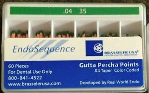1 New Pack Of Brasseler Endosequence Gutta Percha Points Size 35 Taper 04