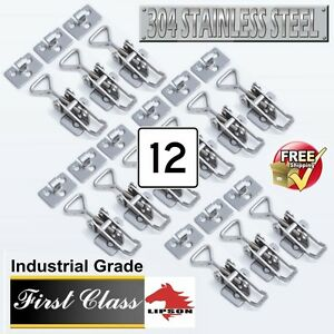 12 toggle Snap Latches Industrial Grade adjustable Polished 304ss