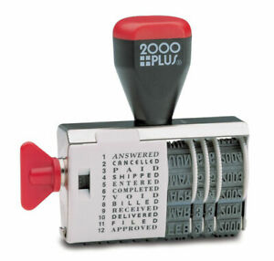 2000 Plus Dial n stamp Date Rubber Stamp Phrase Dater Years 2020 2025
