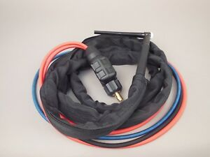 12 Htp Wp20f Flex Neck Water Cooled Tig Torch Compatible With Lincoln 200 225