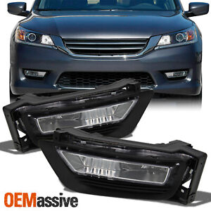 Fit 2013 2014 2015 Accord 4dr Sedan Bumper Driving Clear Fog Lights W Switch