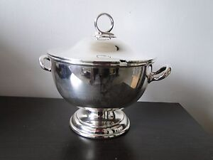 Silver Plated Soup Tureen Good Quality Nice Simple Shape And Style Circa 1900