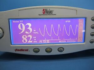 Masimo Spo2 Patient Monitor Finger Probe All Cables Mount Radical Heart Rate